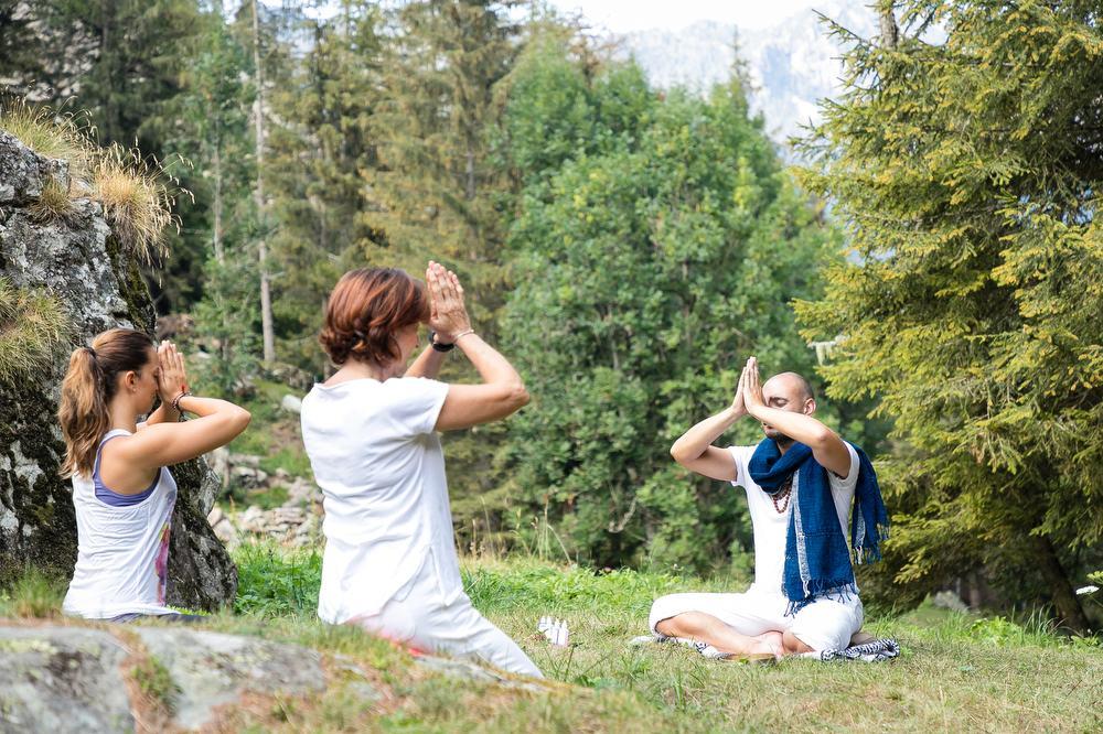 Yoga in natura Champorcher Valle Aosta